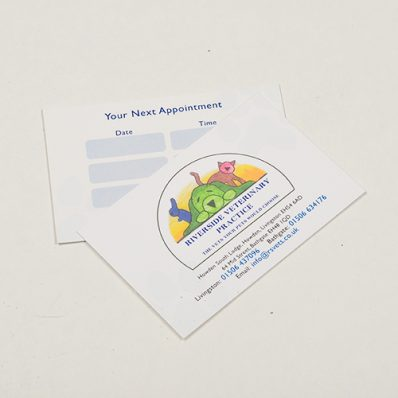 Unlaminated Appointment Cards