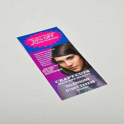 1/3rd A4 Uncoated Recycled Leaflets