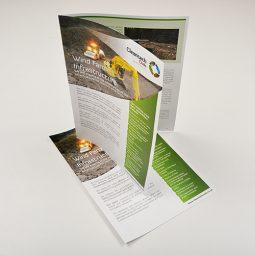 A3 Silk Folded Leaflets