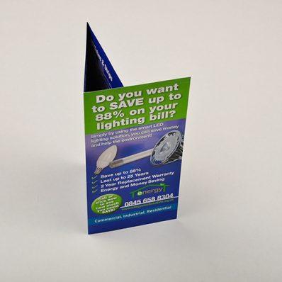A4 Gloss Folded Leaflets