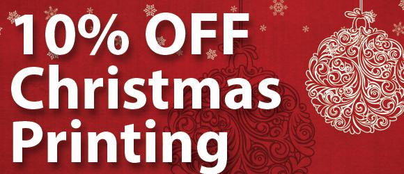 10% Off Christmas Printing