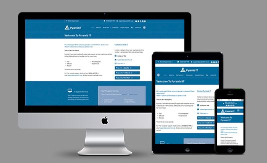 Pyramid IT Website Design