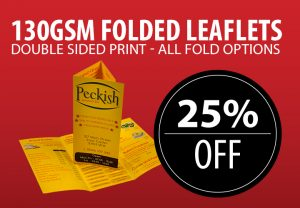 130gsm Gloss Folded Leaflets Offer