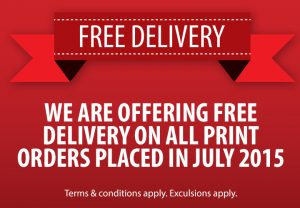 Free Delivery On Print Orders In July