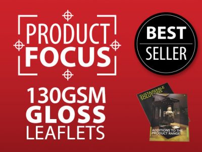 Product Focus - 130gsm Gloss Leaflets