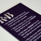 Silver Foil Business Card In Edinburgh