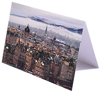 Personalised Printed Christmas Card Of Edinburgh