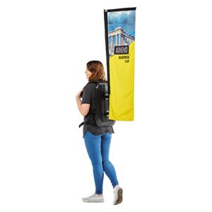 Printed & Branded Backpack Flag