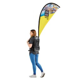 Printed & Branded Curved Backpack Flag