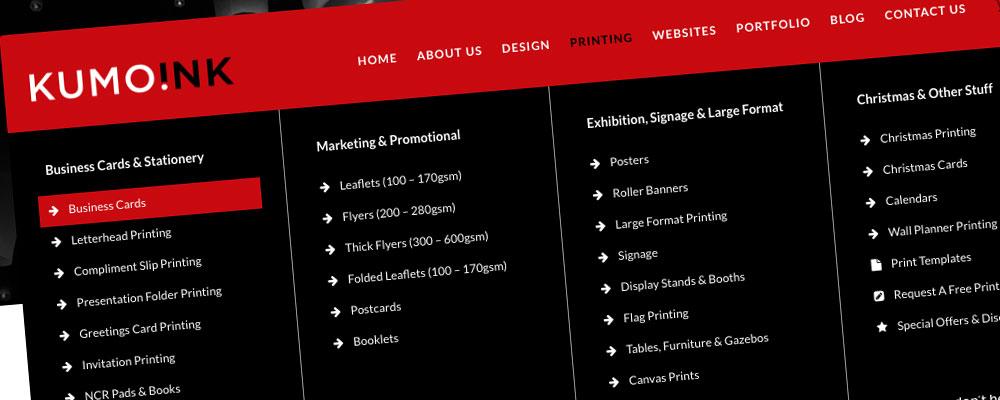 Kumo Ink Website