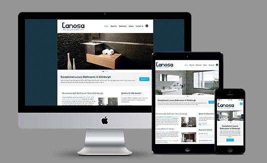 Lanosa Installations Edinburgh Website Design