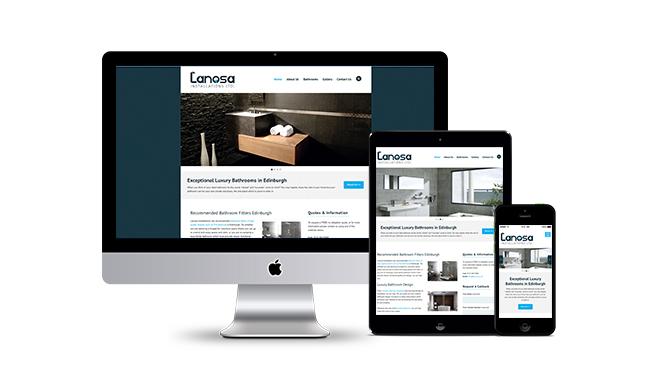 Lanosa Installations Edinburgh Website Design