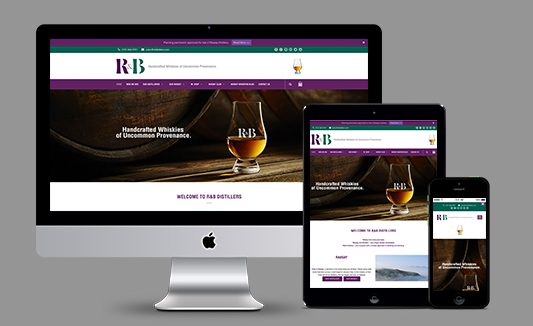 R&B Distillers Edinburgh Website Design