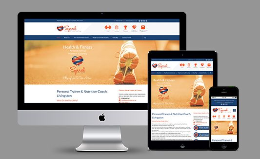 Spiral Fitness West Lothian Website Design