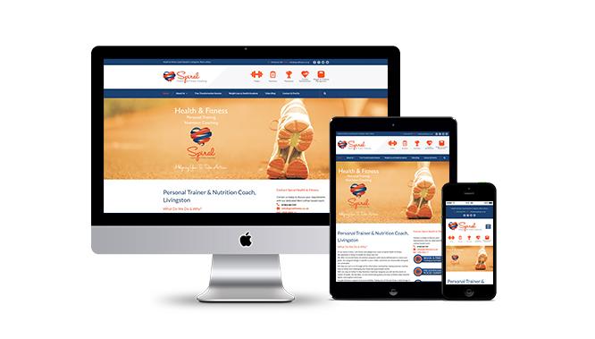 Spiral Fitness West Lothian Website Design