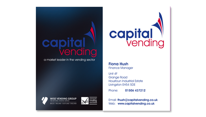 Capital Vending Business Card