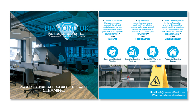 Diamond Facilities Management Folded Leaflet