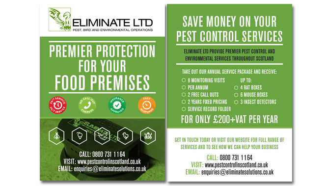 Eliminate Pest control Flyers