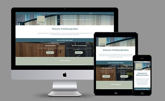Edinburgh Gates Website Design
