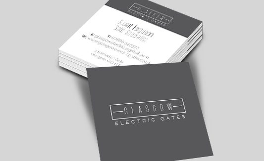 Glasgow Electric Gates Square Business Cards