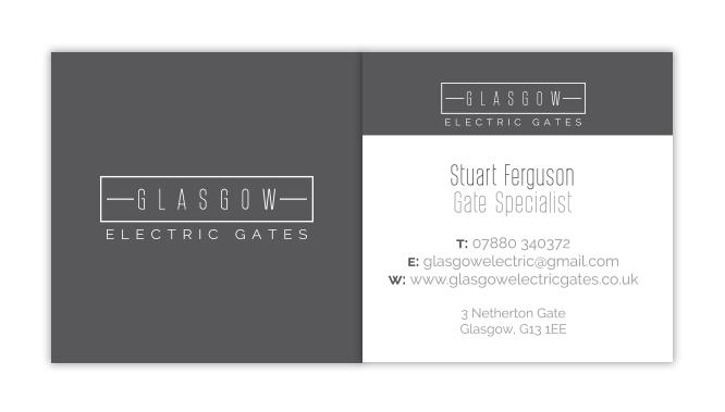 Glasgow Electric Gates Business Cards