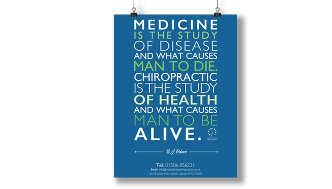 West Lothian Chiropractic Poster